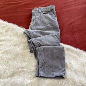 J.crew slim flex grey corduroy pants sz.31x32